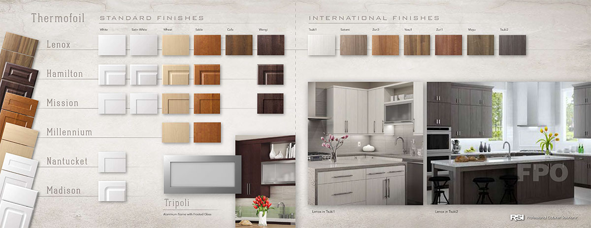 Rsi Pcs Thermofoil Door Finishes Pcs Professional Cabinet Solutions Designer Kitchen Cabinetry
