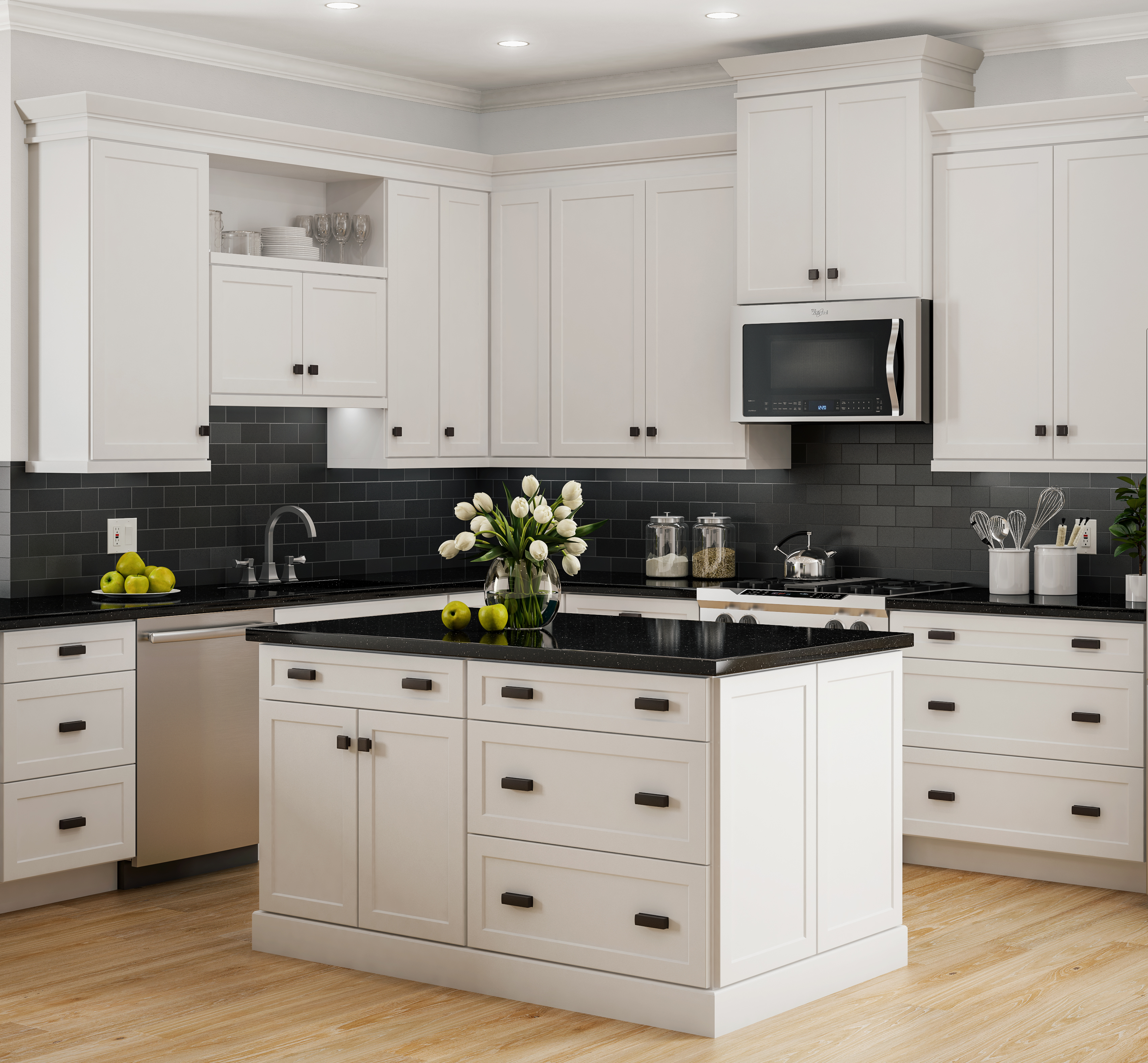 White Mission Kitchen Cabinets Mission White   PCS   Professional CabiSolutions   Designer